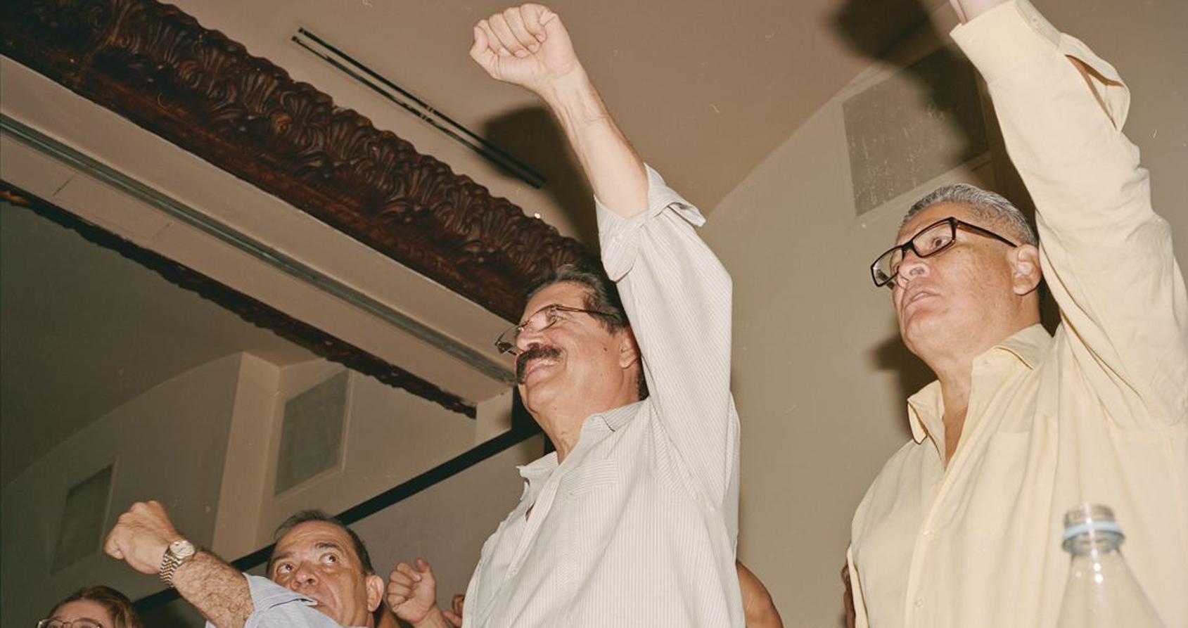 L'Ancien Président Hondurien Manuel Zelaya Conférence du Parti Libre Crédits : Dominic Bracco II