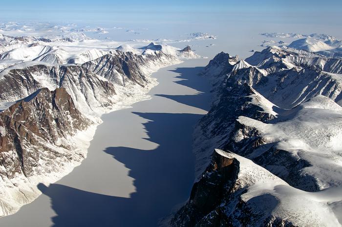 L'île de Baffin, dans l'archipel arctique canadienCrédits