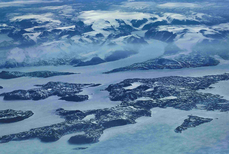 Vue aérienne de l'ïle de BaffinCrédits