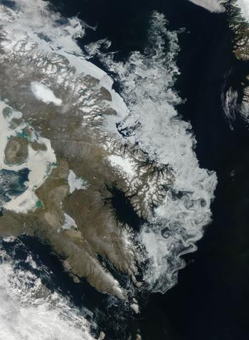Vue satellite de lîle de BaffiCrédits