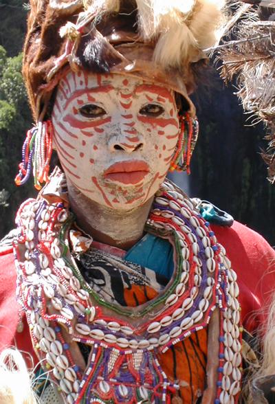 Une femme Kikuyu, une ethnie de marchandsCrédits