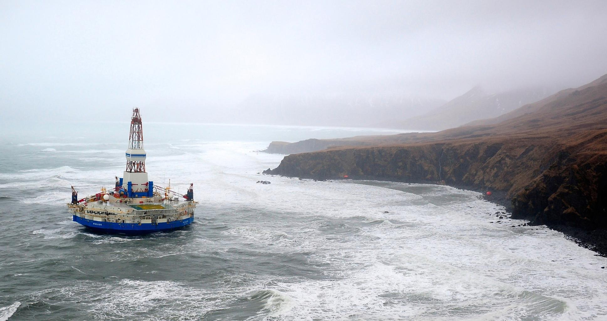Le spectaculaire naufrage de Shell dans les mers de l'Arctique