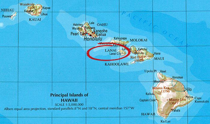 Les îles principales de Hawaï