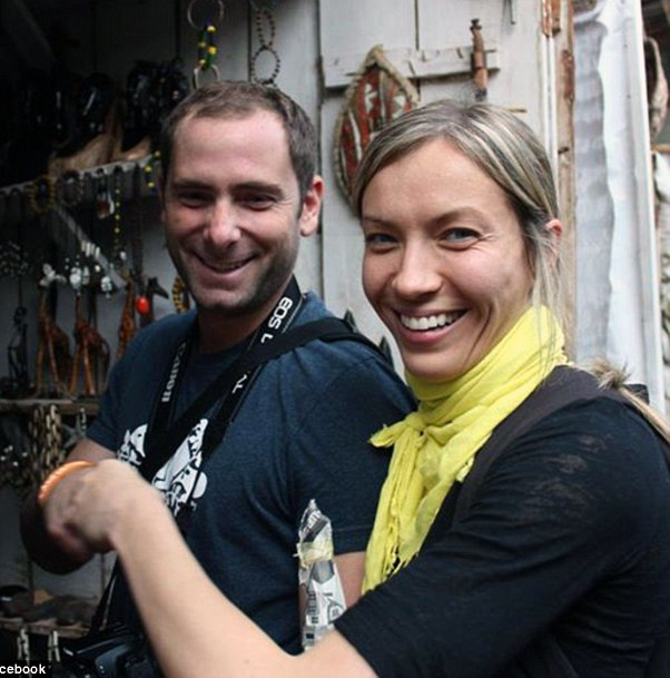 Kate Matrosova et son mari Charlie FarhoodiCrédits : Facebook