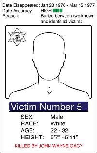 Huit des corps retrouvés étaient toujours non identifiésCrédits : Département du shérif de Cook County