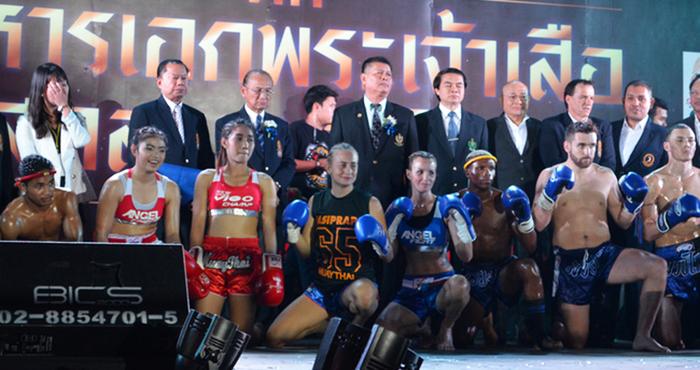 Les coulisses du plus grand tournoi de boxe thaï féminine