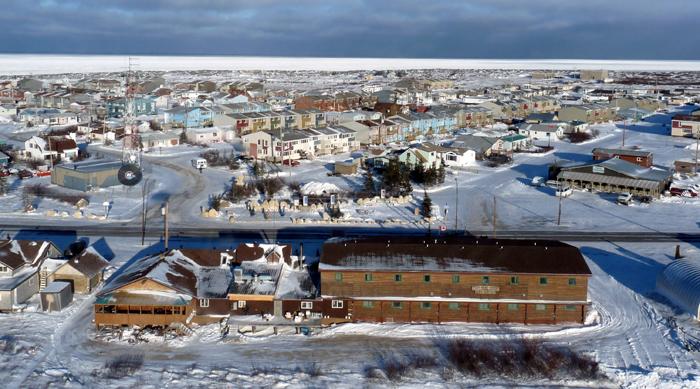 Vue de Churchill, ville du Manitoba, située au bord de la baie d'HudsonCrédits