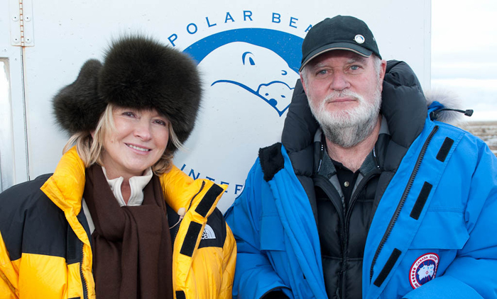 Martha Stewart avec Robert Buchanan, président de PBICrédits : Polar Bears International