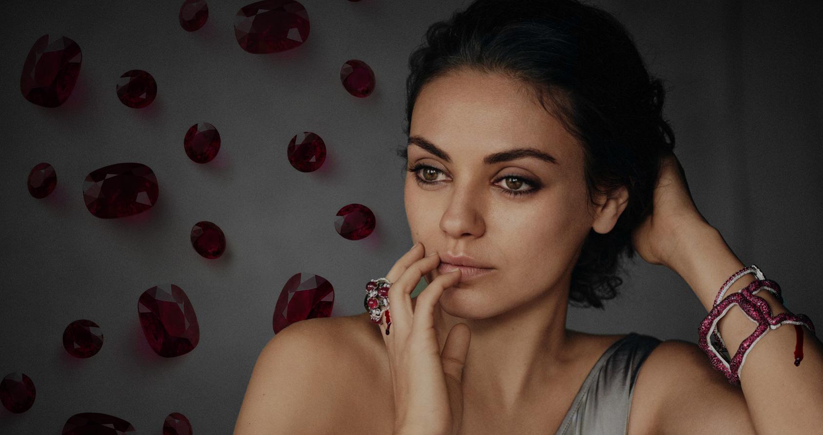 Les bijoux de Mila Kunis sont-ils fabriqués dans le sang ?