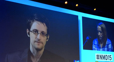 L'intervention de Snowden s'est fait via SkypeCrédits : Facebook
