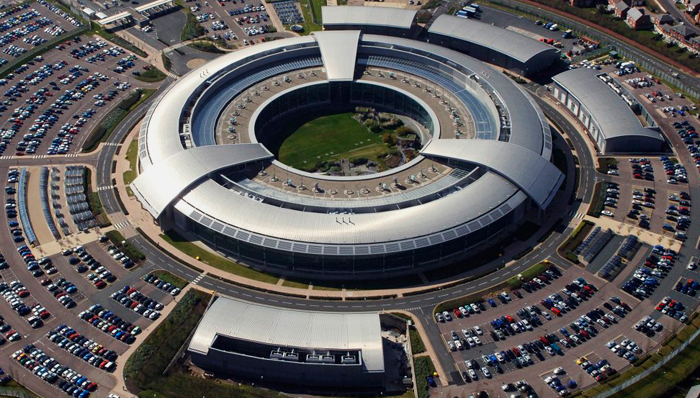 Locaux du GCHQ, les srvices secrets britanniquesCrédits : Ministère de la défense britannique