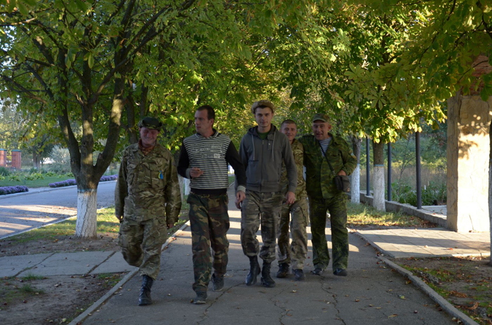 Des soldats ukrainiens en poste à Ascania-NovaCrédits Dimiter Kenarov