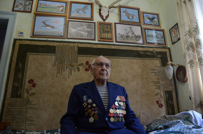 Nikolaï Lobanov, 90 ans, vétéran de la bataille de StalingradCrédits Dimiter Kenarov