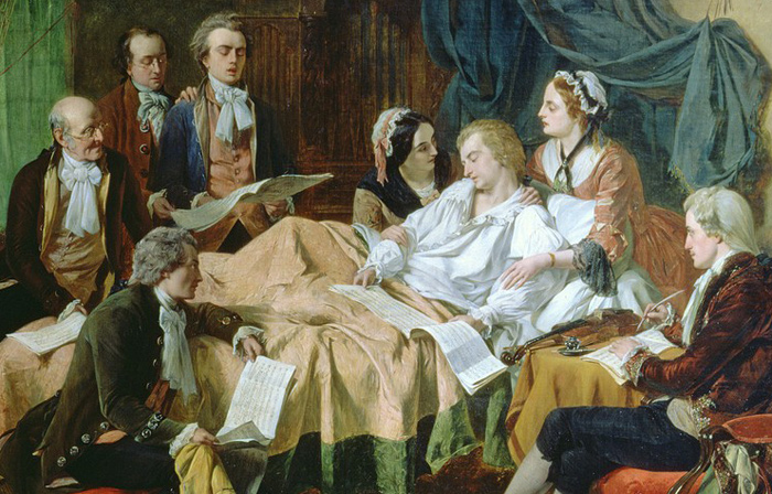 The Last Hours of Mozart de Henry Nelson O'Neil (1860)