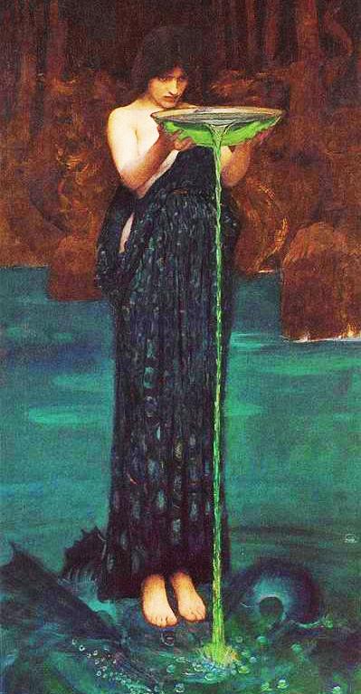 Circe Invidiosa de John William Waterhouse (1892)