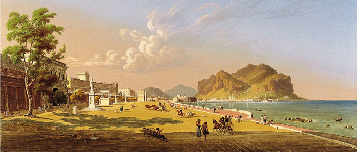 Vue de Palerme de Robert Salmon (1845)