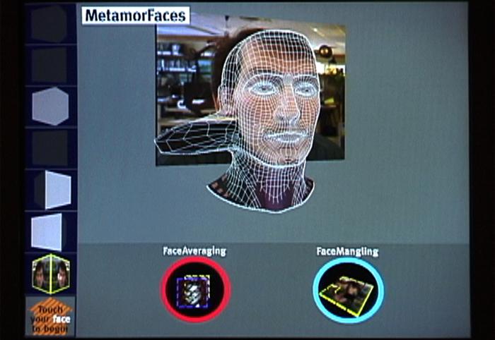 MetamorFaces, un des premiers systèmes interactifs de modélisation du visageCrédits : John Underkoffler