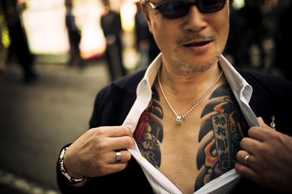 Les Yakuzas sont également connus pour leurs nombreux tatouagesCrédits : Anton Kusters