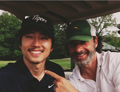 w630_steven-yeun-and-andrew-lincoln-reunite-in-georgia-in-april-2014-1398885413