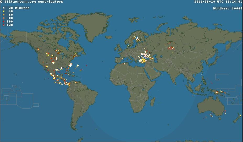 Cette Carte Localise Les Orages Du Monde Entier En Temps Reel