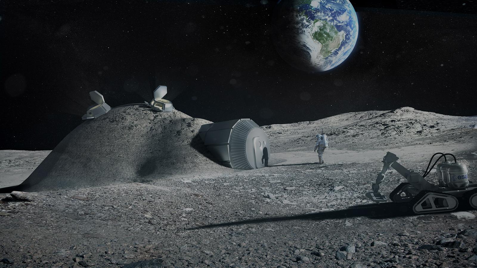 Voilà comment l'ESA va nous faire vivre sur la Lune dans des igloos en 2030