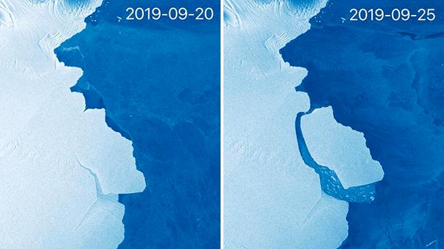 Un gigantesque iceberg se détache en Antarctique